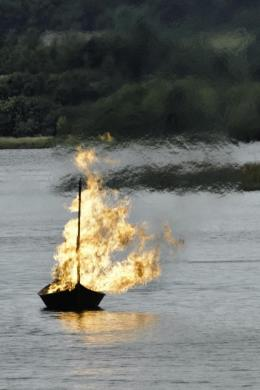 Tiernan Roe boat built for the Game of Thrones series