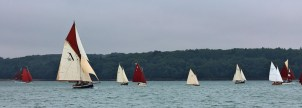 Gaffers racing in the Solent by Keith Allso
