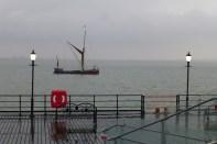 Jimmy Lawrence barge skipper talks on Southend Pier 4