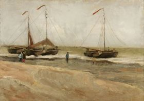 Vincent_van_Gogh_-_Beach_at_Scheveningen_in_calm_weather_(1882)