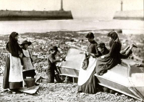 Whitby coble photographed by Frank Meadows Sutciffe