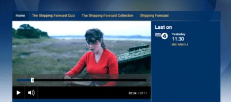 BBC Radio Shipping Forecast programme