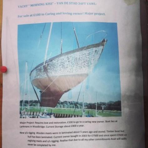 Van de Statd yacht Morning Kiss for sale