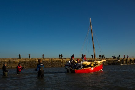 Boat Building Academy Lyme Regis launch 2014 photographs
