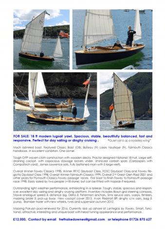 18ft dinghy for sale