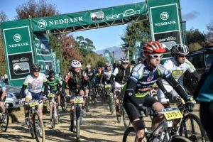 Stage one of the 2014 Nedbank sani2c Trail Mountain Bike stage race from Underberg to Mackenzie Club on May 13. Photo: Kelvin Trautman