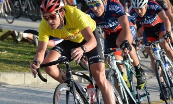 Willie Smit (left) at the Bestmed USSA student cycle tour in Port Elizabeth. Photo: Coetzee Gouws / Full Stop Communications