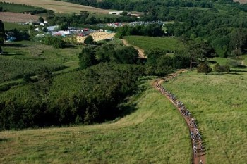 Mountain Bikers in action during stage two of the FNB W2W MTB Adventure that started and finished at Oak Valley Wine Estate (Elgin-Grabouw) on Saturday. Photo: Cherie Vale / Newsport Media