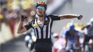 Stephen Cummings gave Team MTN-Qhubeka a reason to celebrate on Mandela Day by winning the 14th stage of the 2015 Tour de France. Photo: Supplied