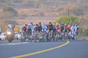 The peloton in a previous edition of the Bestmed Jock Classique event. Photo: Supplied