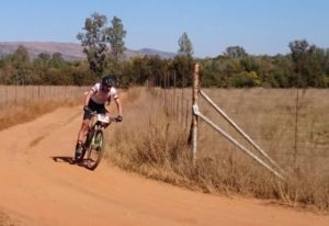 Max Knox won the fourth event in the Ashburton National MTB Series today. Photo: twitter.com/NatMTBseries