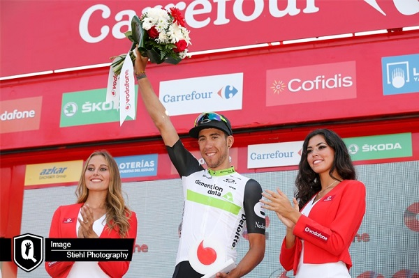 Team Dimension Data's Omar Fraile rode to fourth and claimed the King of the Mountains (KOM) jersey on stage 10 of the Vuelta a Espana yesterday. Photo: Stiehl Photography