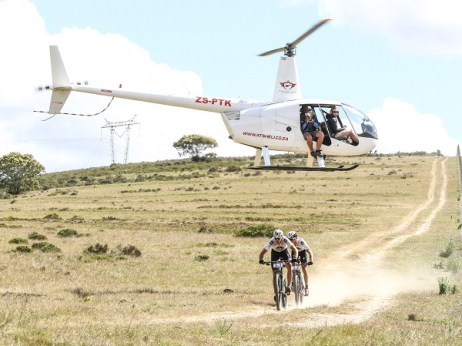 Team NAD Pro's Nico Bell and Gawie Combrinck in action during stage 1 of the 2016 Cape Pioneer Trek. Photo: Oakpics.com