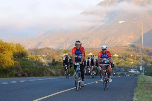 Cyclists en route during the Double Century in Swellendam today. Photo: Jetline Action Photo