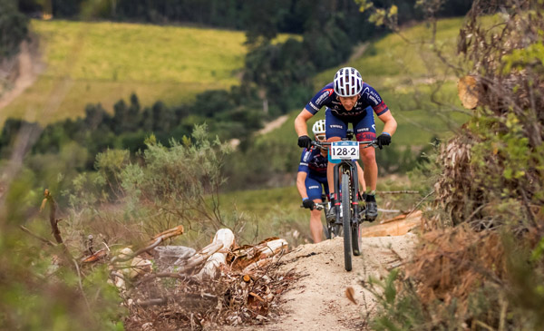 Altech Autopage Pro Cycling rider Hanco Kachelhoffer believes the two-day concept of next week's Sanlam MTB Invitational could become a popular format. Photo: Ewald Sadie