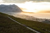 The view of Hermanus from Rotary Drive as stage two of the 2017 Cape Epic was shortened to 62km due to high temperatures forecast. Photo: Nick Muzik/Cape Epic/SPORTZPICS