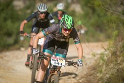 Mariske Strauss during the final stage of the 2017 Cape Epic. Photo: Mark Sampson/Cape Epic/SPORTZPICS