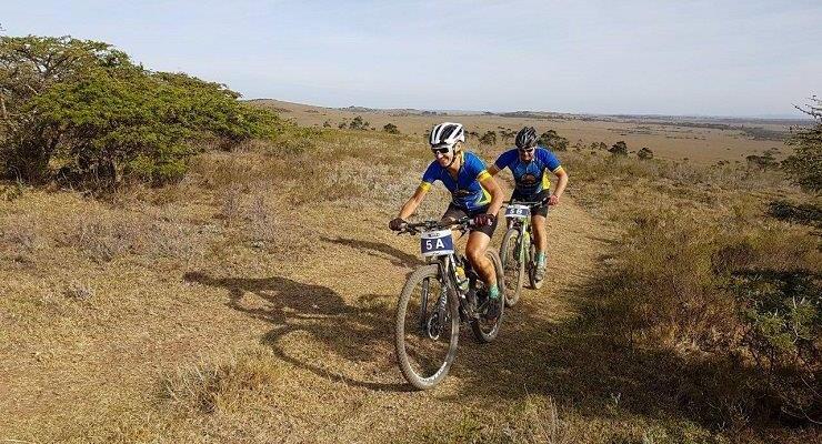 Yolande de Villiers and Henties De Villiers at the Fish River Sun MTB Challenge