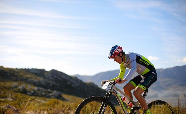 Matthys Beukes won the Knysna Cycle Tour 80km mountain bike race in Knysna.