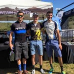 (L-R) Bruce Campbell (2nd), Grant Daly (1st) and Joaquim Carneiro at the Hayterdale Classic in Addo today.