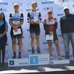 Team Bestmed-ASG's new signing Kristen Louw delivered an impressive performance when she won the 50km mountain bike race at the 20th Bestmed Cycle4Cansa MTB Championship at Sun City on Saturday.