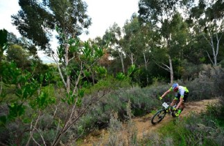 Team PYGA Euro Steel's Matthys Beukes in action during round three of the Western Cape Trailseeker Series.