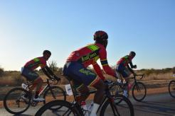 Some of the RoadCover riders in action during the Cycle4Cansa road race.