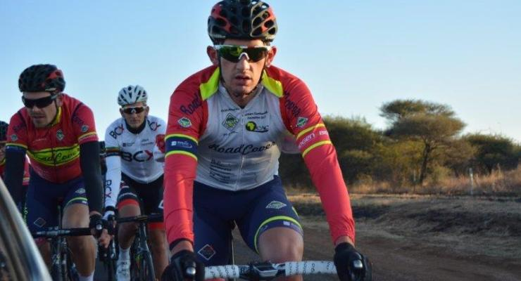 Willie Smit of Team RoadCover in action during the 2017 Cycle4Cansa road race.