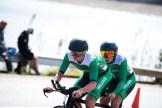 Irish team Katie-George Dunlevy and Eve McCrystal women's visually impaired category during the time-trial on the seonc day of the Para-cycling Road World Championships. Photo: Andrew McFadden