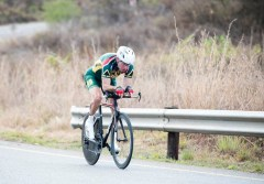 South African rider in action