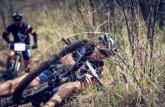 Pictured here is a rider taking an unfortunate fall during the second day of the Berg and Bush 'Great Trek'.