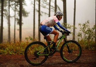Candice Lill riding through Kaapsehoop forests