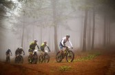 Gert Heyns leads the men during the National MTB Series