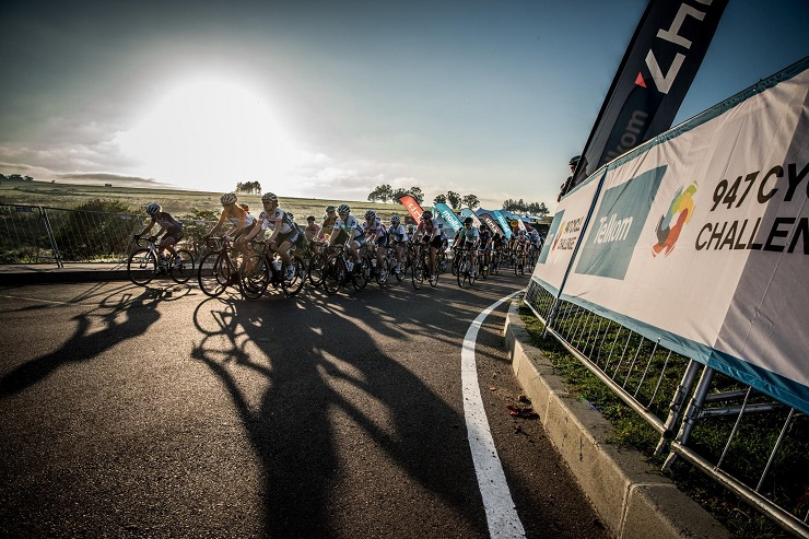 The women in action at the 947 Cycle Challenge