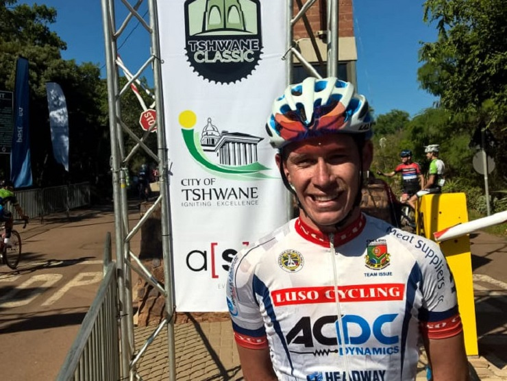 Luso Africa Cycling's Chris Jooste won the first Tshwane Classic at the Voortrekker Monument in Pretoria today.