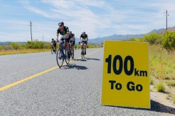 Riders in action during the Double Century race in Swellendam yesterday.