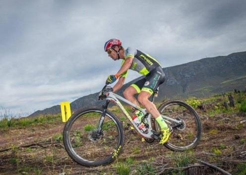 An image of Matthys Beukes during stage two of Wines2Whales Race.