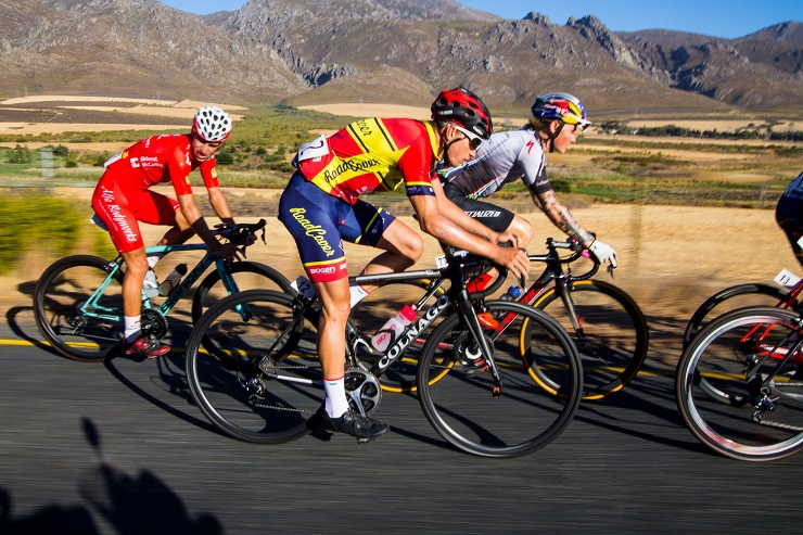 Eddie van Heerden in action on the road