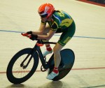 Elfriede Wolfaardt in track cycling in South African colours. Photo: Supplied