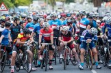 Cyclists at the start line ready for the 2017 Stellenbosch Cycle Tour.