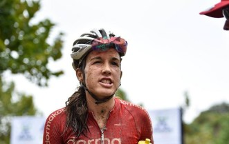 Pictured here is Candice Lill after the 2018 Attakwas Extreme MTB Challenge.