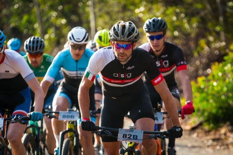 Stuart Marais (front) in action during stage seven of the 2018 TransCape MTB Encounter.