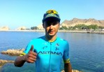 Alexey Lutsenko, pictured here, secured the overall title at the Tour of Oman today. Photo: Tour of Oman