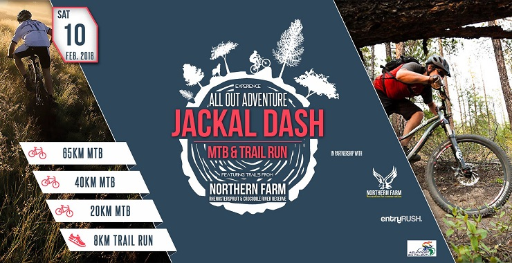 Logo for the Jackal Dash mountain bike race.