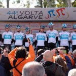 Team Sky's Michał Kwiatkowski won the fifth and final stage of the Volta ao Algarve and secured the overall title at the same time. Photo: Team Sky