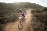 Amy McDougall in action during Cape Epic