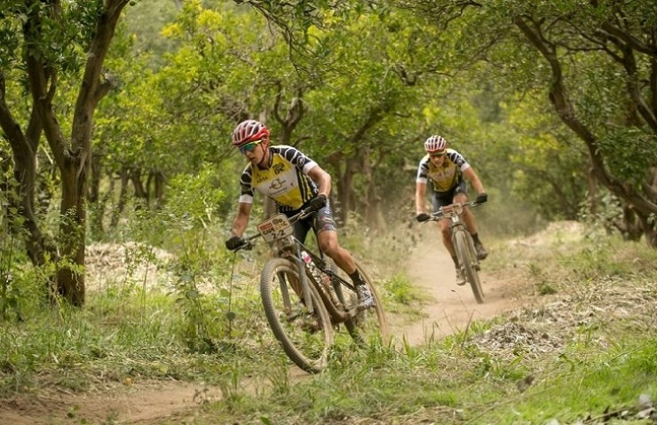 Howard Grotts, Jaroslav Kulhavy during Cape Epic stage six