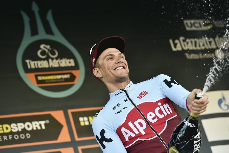 Marcel Kittel won the 153km sixth stage of the Tirreno-Adriatico today. Photo: @TirrenAdriatico
