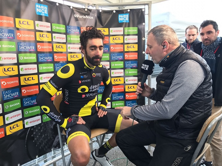 Direct Énergie's Jérôme Cousin won the 165km fifth stage of the Paris-Nice today. Photo: @ParisNice