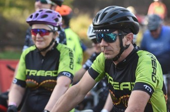 Rider looking focused before beginning his race on stage three of the Cradle Traverse yesterday. Photo: Sage Lee Voges/ZC Marketing Consulting